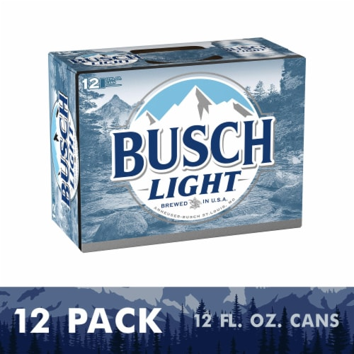 Busch Light Lager Beer Perspective: front