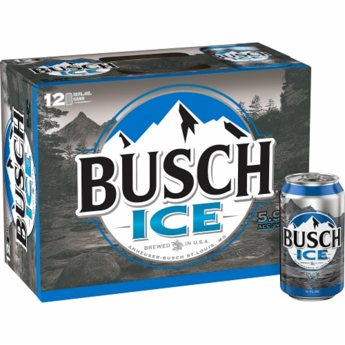 Busch Ice Lager Beer Perspective: front