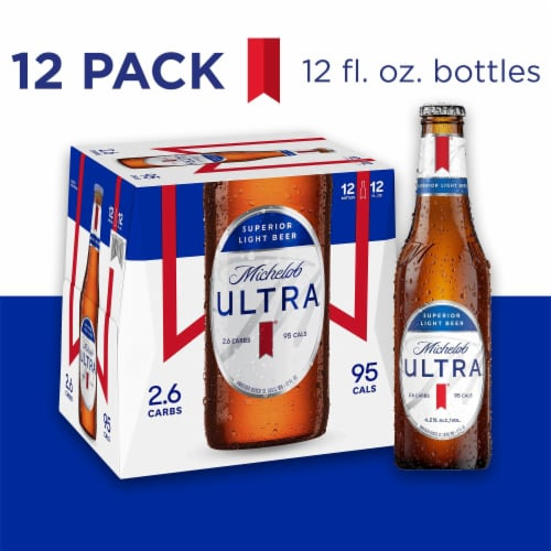 Michelob Ultra Superior Light Beer Perspective: front