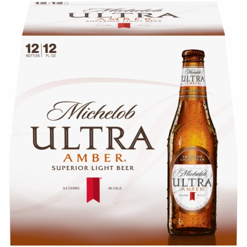 Michelob Ultra Amber Beer Perspective: front