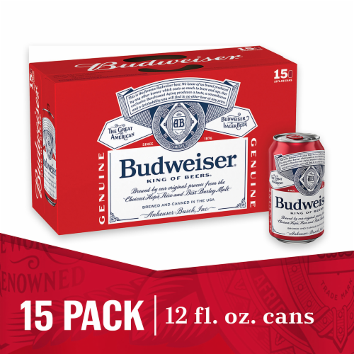 Budweiser Beer (15 Pack) Perspective: front
