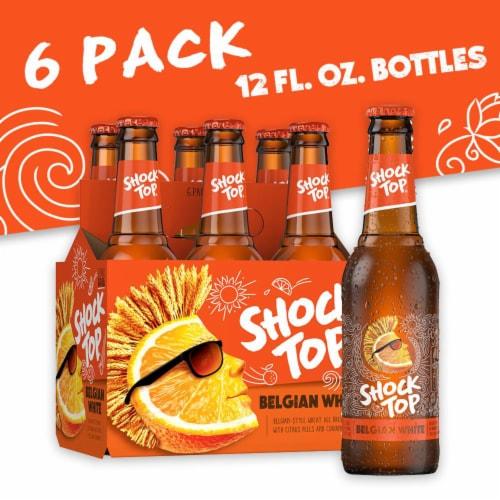 Shock Top Belgian White Ale Beer Perspective: front