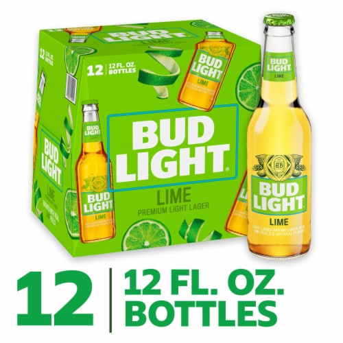 Bud Light Lime Light Lager Perspective: front