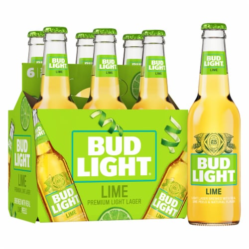 Bud Light Lime Light Lager Beer Perspective: front