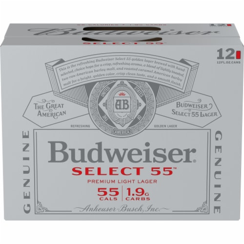 Budweiser® Select 55™ Light Lager Beer Perspective: front
