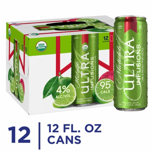 Michelob Ultra Lime Cactus Beer Perspective: front