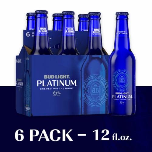 Bud Light Platinum Lager Beer Perspective: front