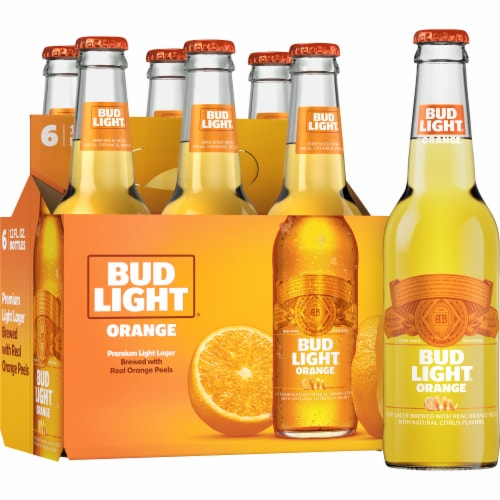 Bud Light Orange Beer Perspective: front