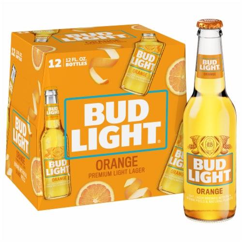 Bud Light Orange Beer Perspective: front