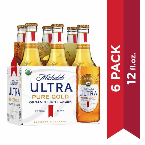 Michelob Ultra Pure Gold Organic Light Lager Perspective: front
