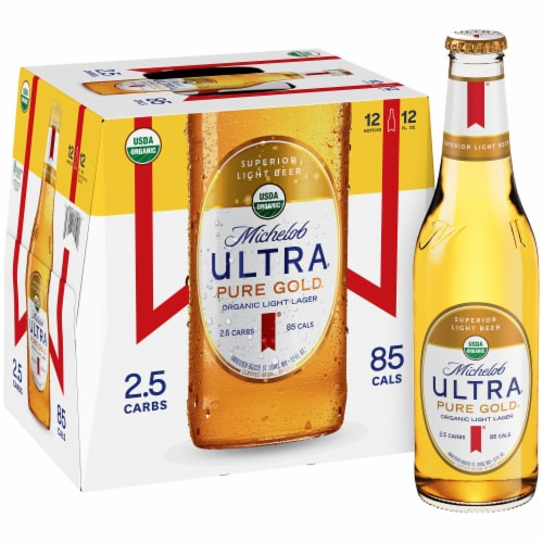 Michelob Ultra Pure Gold Organic Lager Beer Perspective: front