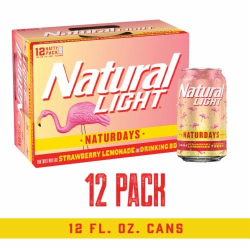 Natural Light® Naturdays™ Strawberry Lemonade Beer Perspective: front