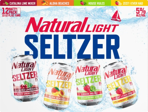 Natural Light Seltzer Variety Pack Perspective: front