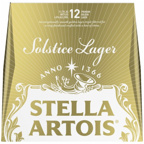 Stella Artois Solstice Lager Beer Perspective: front