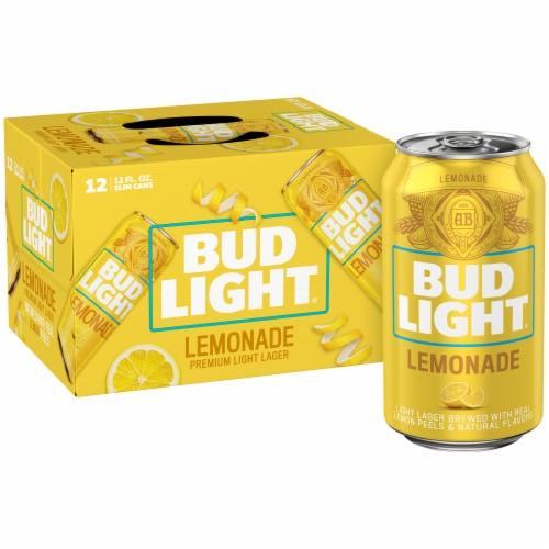 Bud Light Lemonade Lager Perspective: front