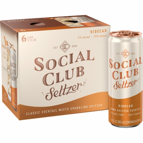 Social Club Seltzer Sidecar Hard Seltzer Cocktail Perspective: front