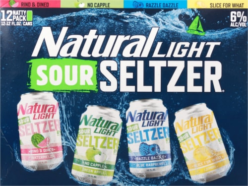 Natural Light Sour Seltzer® Variety Pack Perspective: front