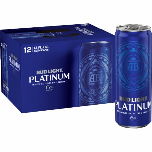Bud Light Platinum Lager Beer Perspective: front