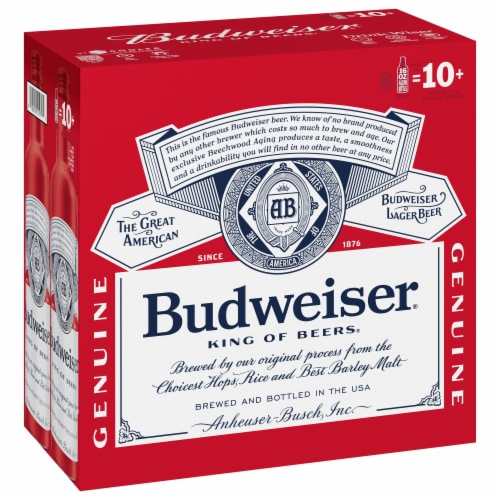 Budweiser Lager Beer Perspective: front