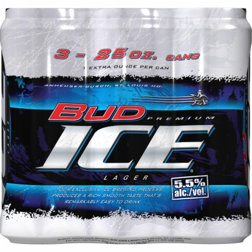 Bud Ice Premium Lager Perspective: front