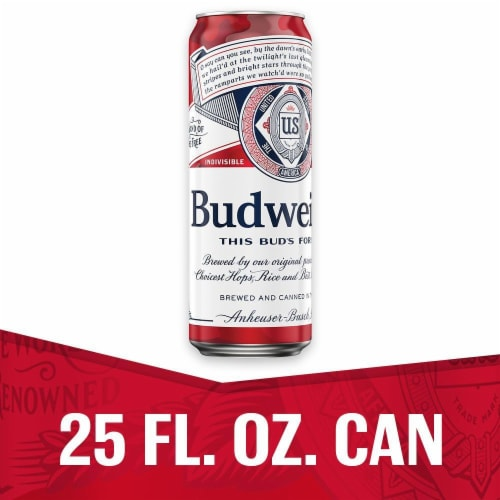 Budweiser Beer Perspective: front