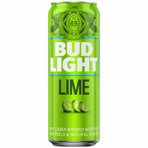 Bud Light Lime Lager Beer Perspective: front