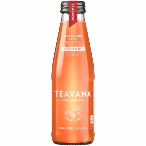 Teavana Strawberry Apple Green Unsweetened Tea Perspective: front