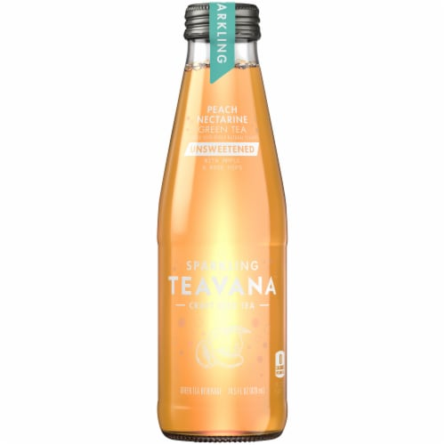 Teavana Sparkling Unsweetened Peach Nectarine Green Tea Perspective: front