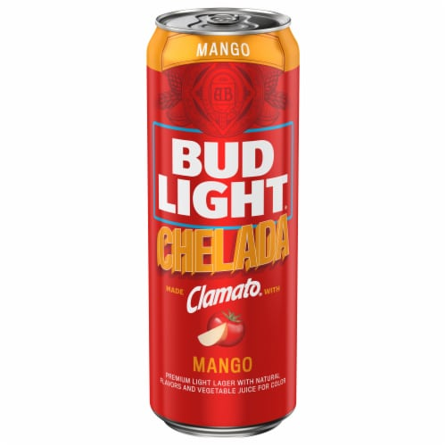 Bud Light Chelada Mango Beer with Clamato Perspective: front
