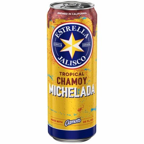 Estrella Jalisco Spicy Pina Michelada Beer Perspective: front