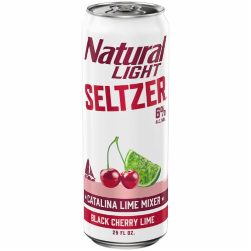 Natural Light Seltzer® Black Cherry Lime Catalina Lime Mixer Perspective: front