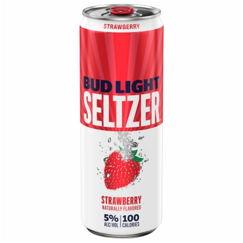 Bud Light Strawberry Hard Seltzer Perspective: front