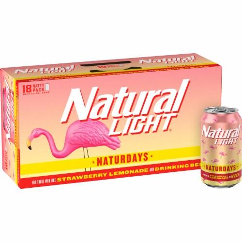 Natural Light Naturdays Strawberry Lemonade Beer Perspective: front