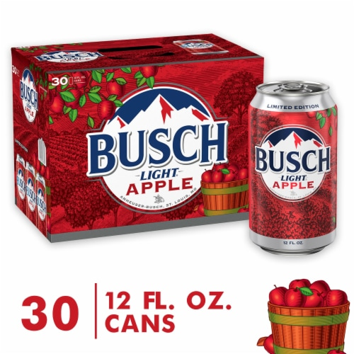 Busch Light Apple Beer Perspective: front