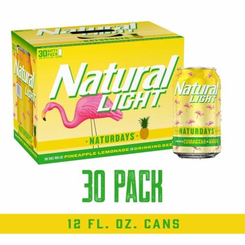 Natural Light Naturdays Pineapple Lemonade Beer Perspective: front