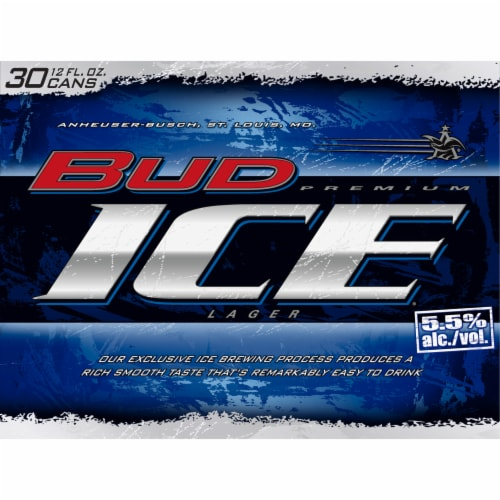 Bud Ice® Premium Lager Beer Perspective: front