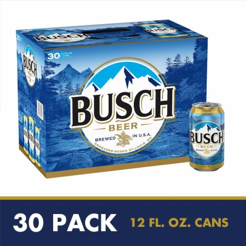 Busch Lager Beer Perspective: front