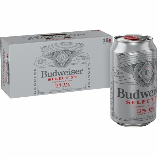 Bud Select 55 Light Lager Beer Perspective: front