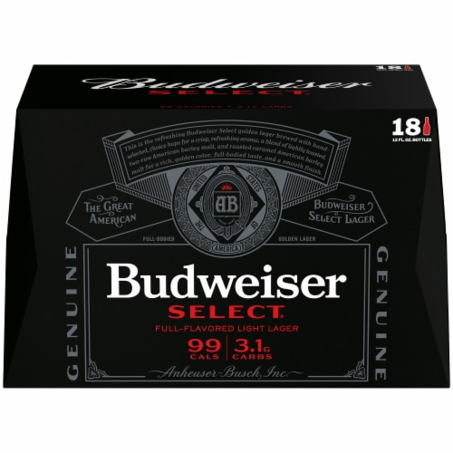 Budweiser Select Light Lager Beer Perspective: front