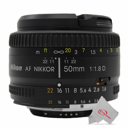 Nikon Af Fx Nikkor 50mm F/1.8d Lens With Auto Focus For Nikon Dslr Cameras Perspective: front