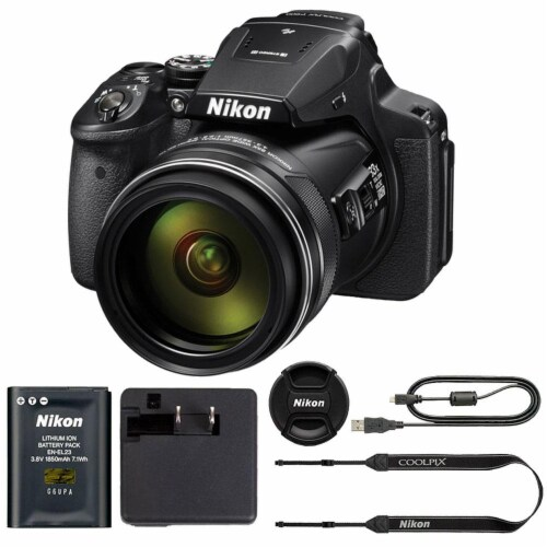 Nikon Coolpix P900 Digital Camera With 83x Optical Zoom Perspective: front