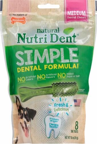 Nylabone Nutri Dent Medium Dental Dog Chews Perspective: front