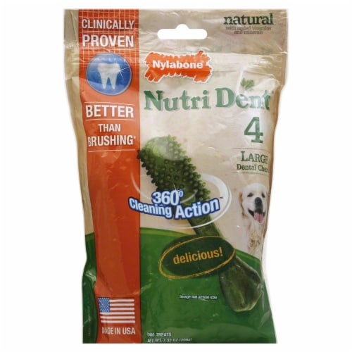 Nylabone Nutri Dent Large Dental Dog Chews Perspective: front