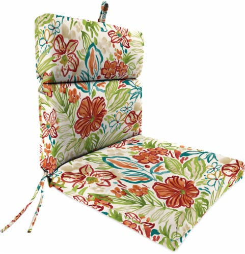 Jordan Manufacturing French Edge Chair Cushion - Valeda Breeze Perspective: front