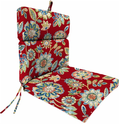 Jordan Manufacturing French Edge Chair Cushion - Daelyn Cherry Perspective: front