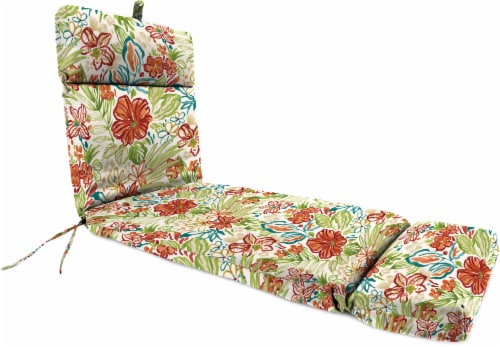 Jordan Manufacturing French Edge Chaise Chair Cushion - Valeda Breeze Perspective: front