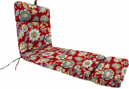 Jordan Manufacturing French Edge Chaise Chair Cushion - Daelyn Cherry Perspective: front