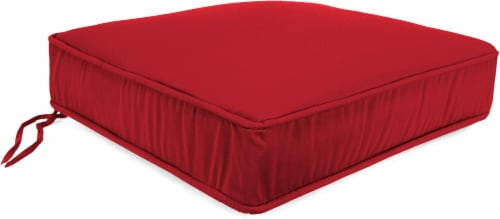 Jordan Manufacturing Deep Seat Chair Cushion - Veranda Red Perspective: front