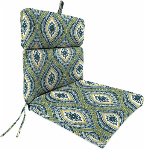 Jordan Manufacturing French Edge Chair Cushion - Jasmina Summer Perspective: front
