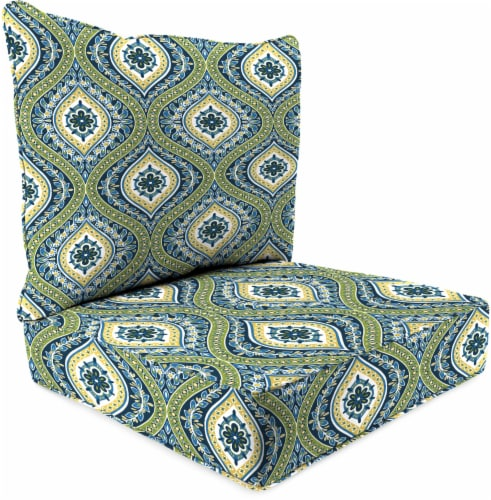 Jordan Manufacturing Deep Seat Pillow Back Set - Jasmina Summer Perspective: front